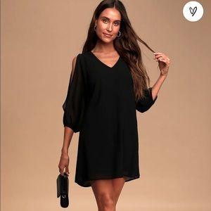 Lulu's Black Shifting Dears Dress